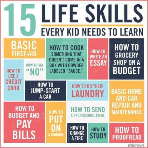 15 life skills every kid needs to learn