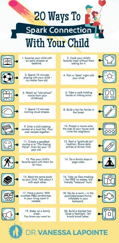 20 Ways To Spark Connection With Your Child
