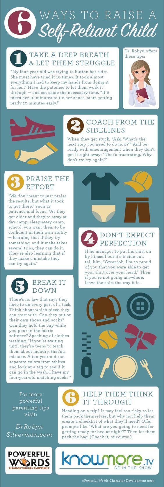 6 Ways to Raise a Self-reliant Child